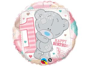 Bilde av Happy Birthday 1 år Rosa 46 cm