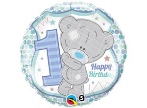 Bilde av Happy Birthday 1 år Blå 46 cm